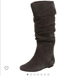 Steve Madden Bonanza Tall Shafted Gray Suede Boot